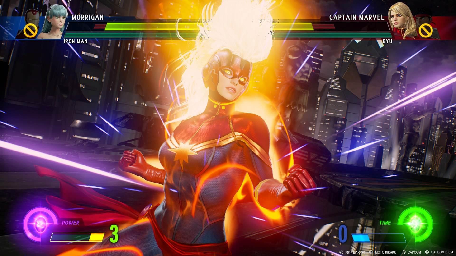 Brawling screens for Marvel vs. Capcom: Infinite