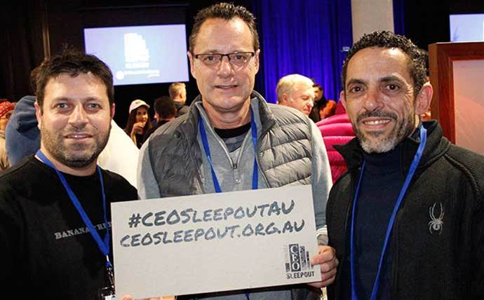 Execs from Lenovo, Microsoft, Datacom, RXP and Sententia sleep rough in Sydney for charity