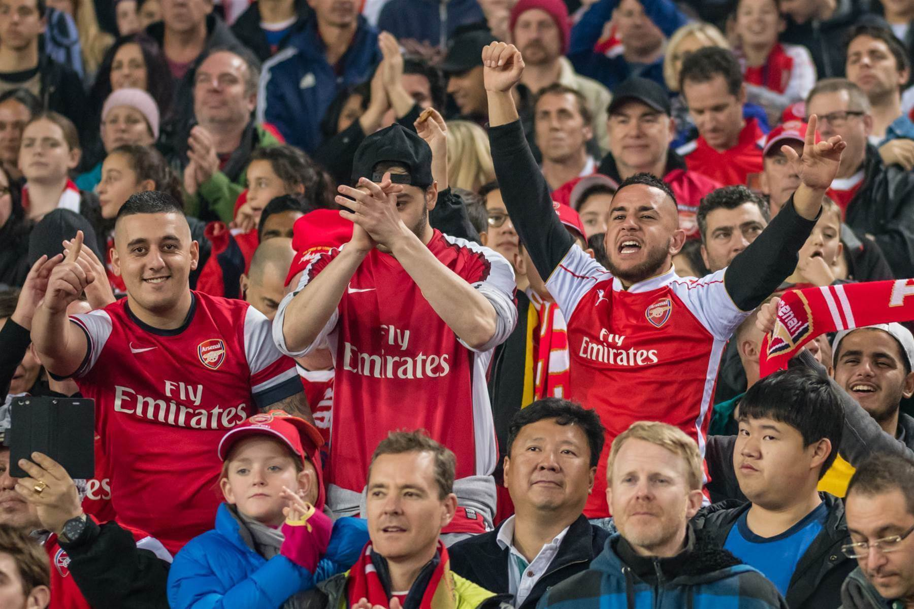 Pic special: With the fans at Arsenal vs Western Sydney Wanderers