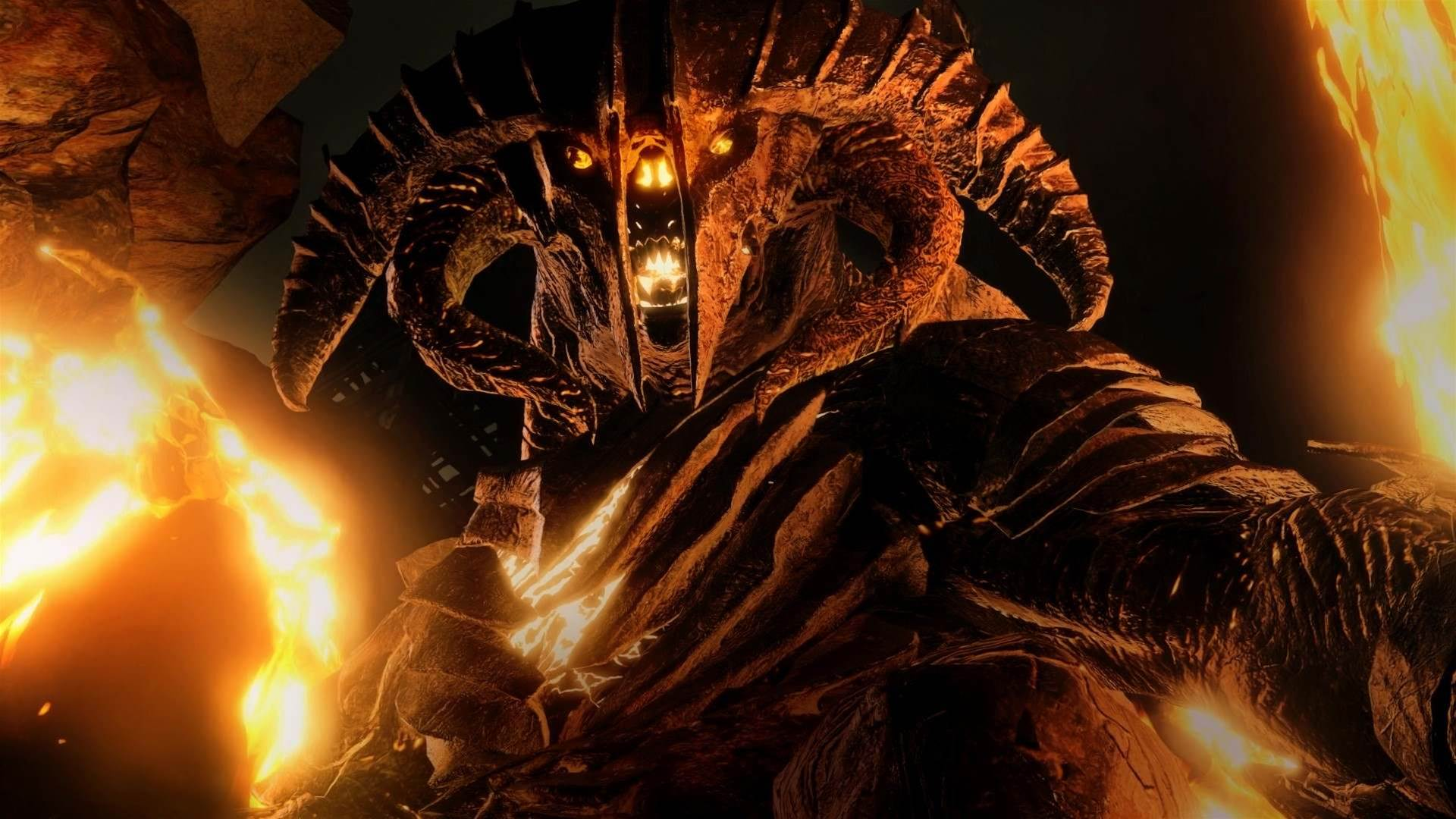 A contingent of Middle-earth: Shadow of War screens