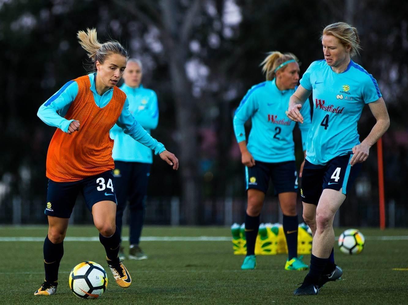Matildas train in Newcastle pic special
