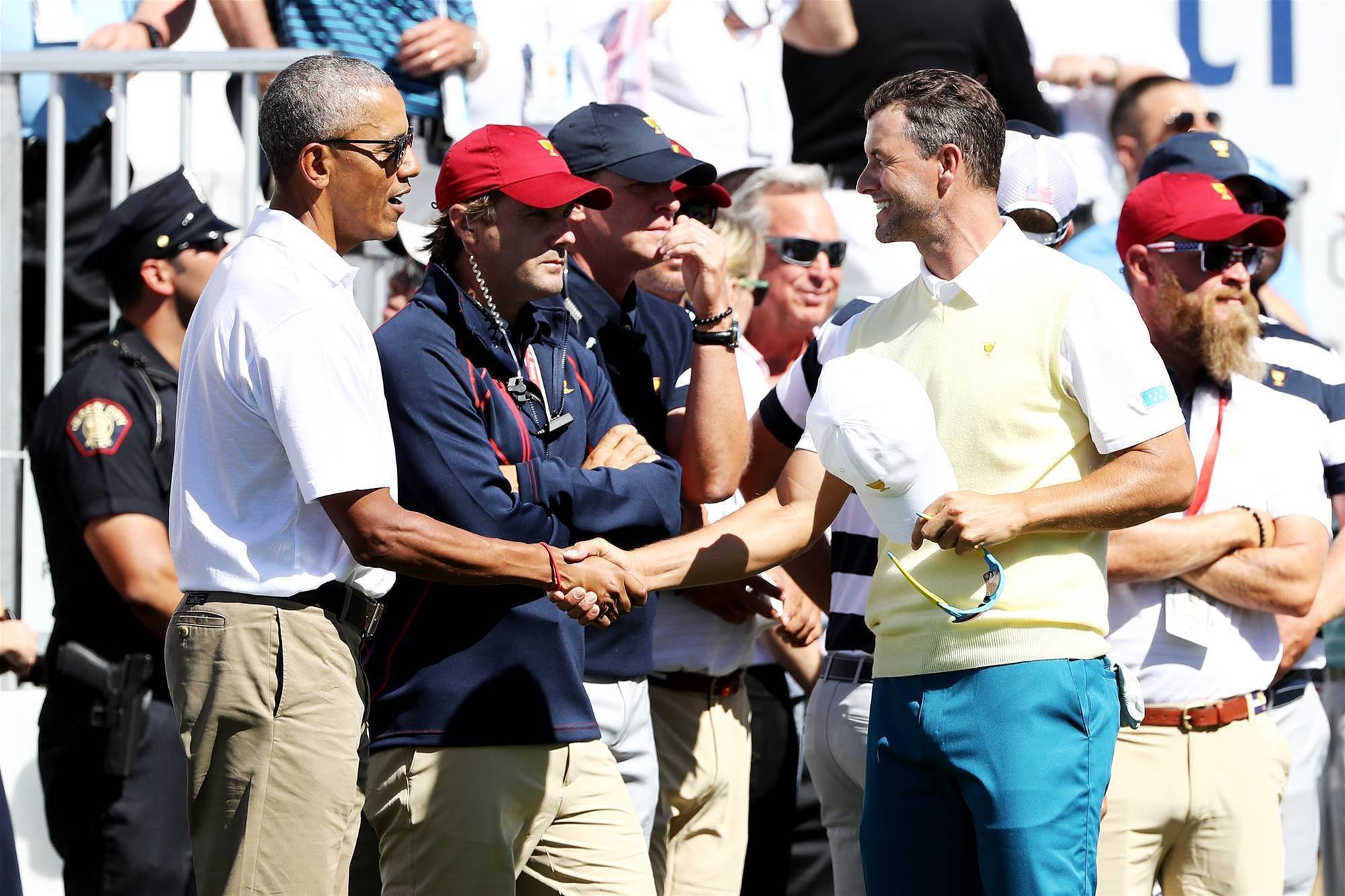 PRESIDENTS CUP: Day 1 through the lens