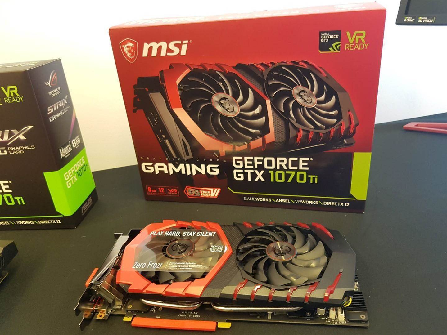 GeForce GTX 1070 Ti caught out of the box