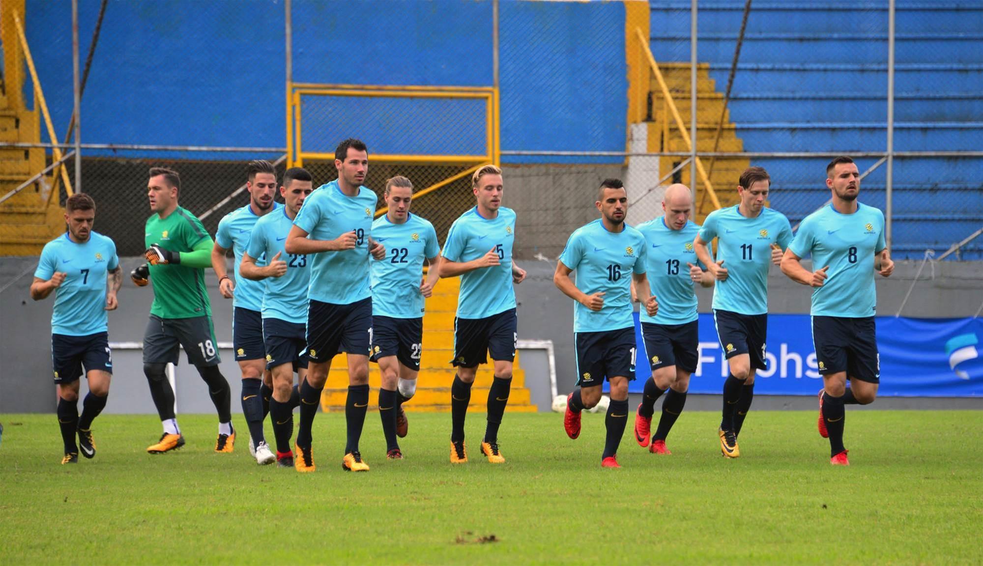 Pics: Socceroos train in San Pedro Sula
