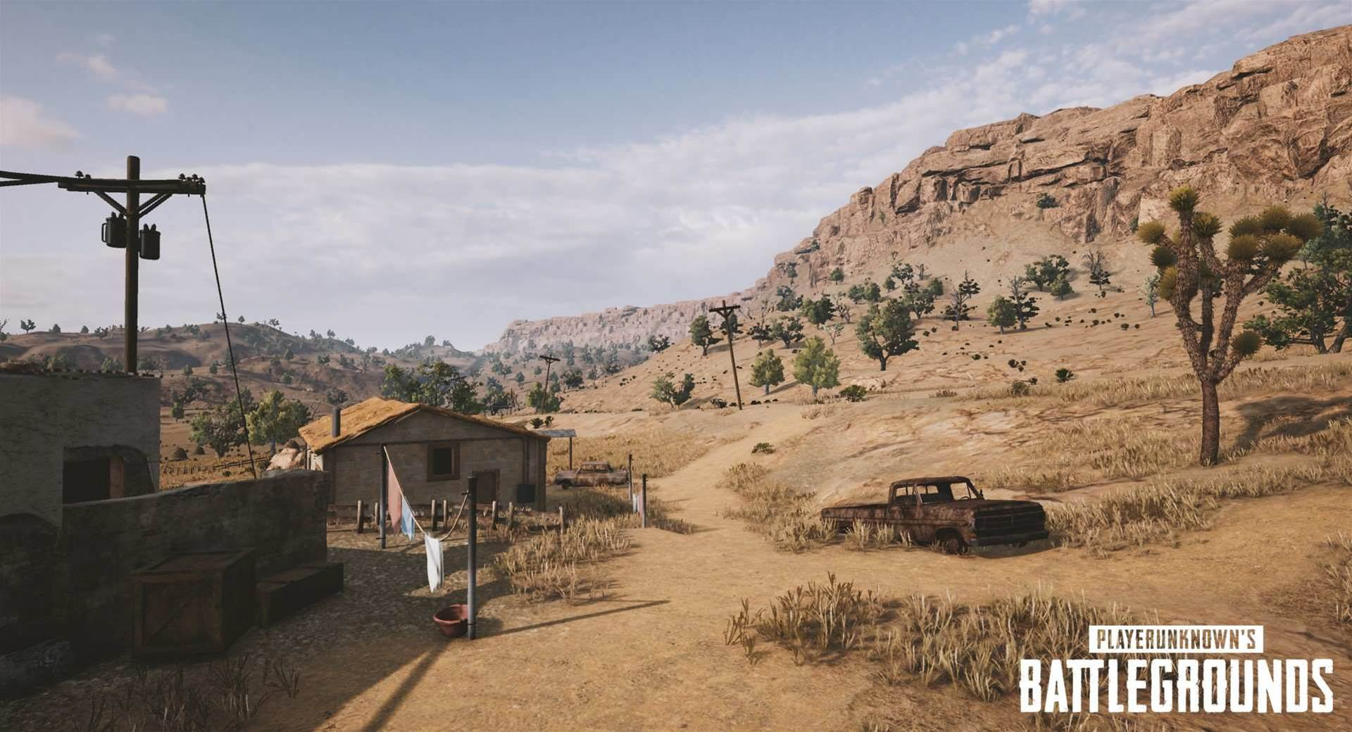 More new screens of the PUBG desert map
