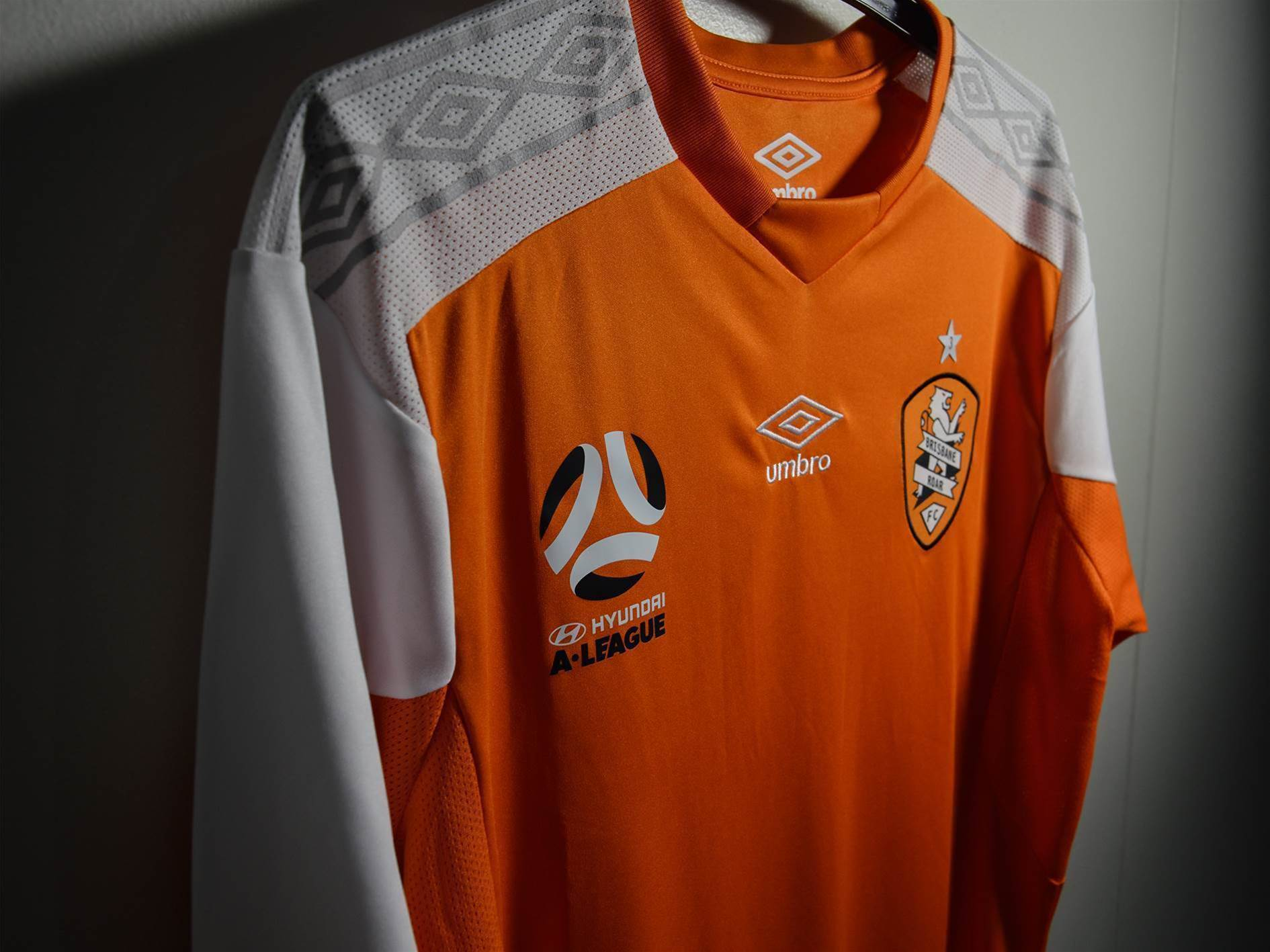 Umbro's latest Brisbane Roar kit