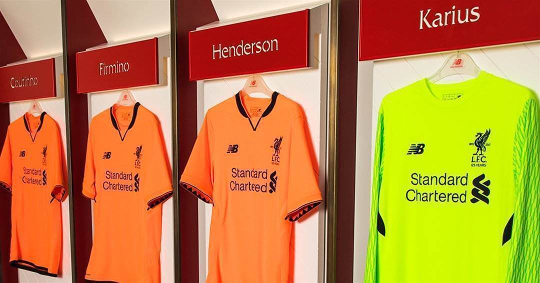 Gallery: Liverpool unveils orange third kit