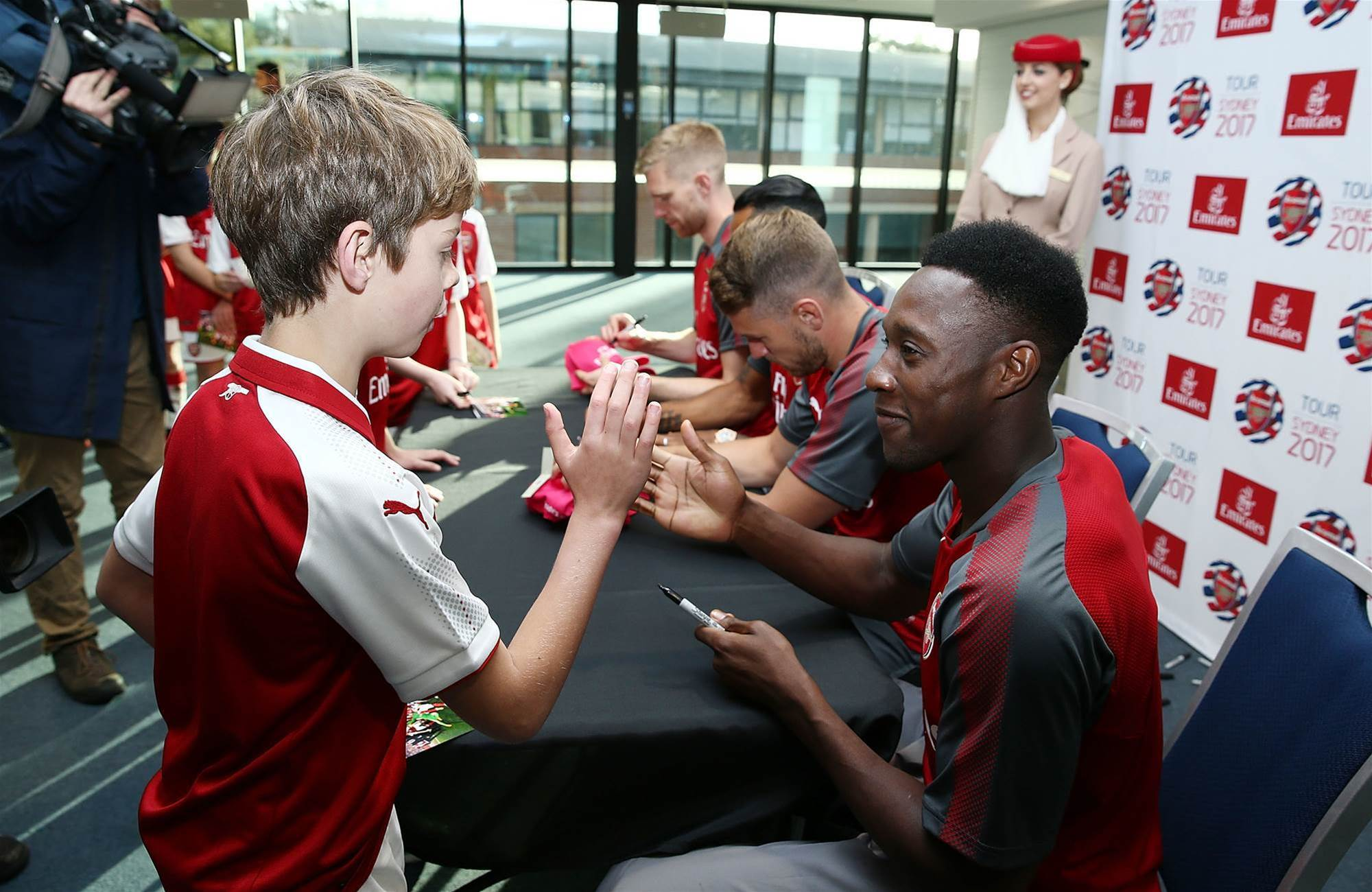 Pic special: Arsenal holds kids clinic
