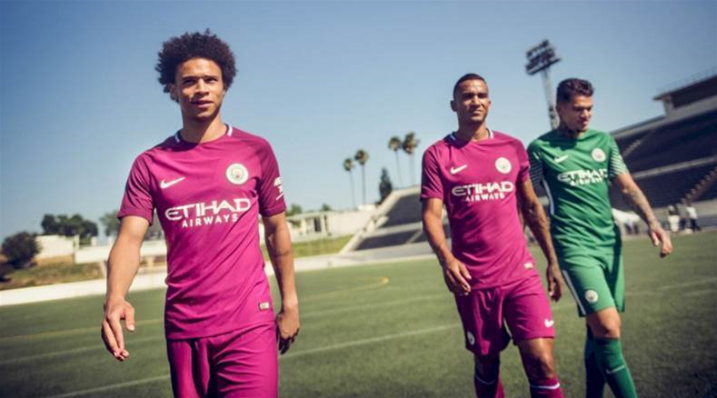 Manchester City go maroon with away kit