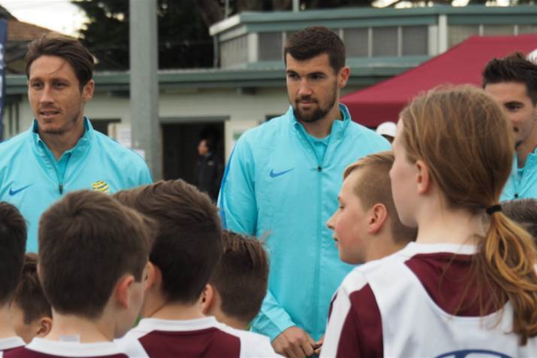 Gallery: Socceroos stars mix with next generation
