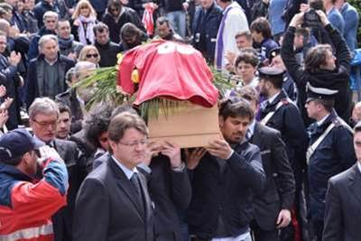 Thousands Of Mourners Attend Morosini Funeral