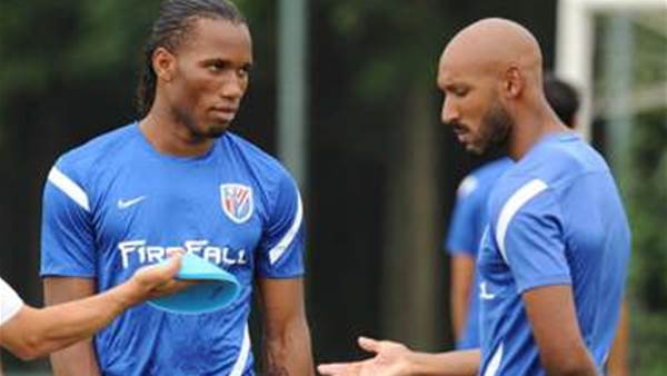 Drogba, Anelka China Doubt