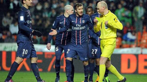 Beckham wins Ancelotti praise
