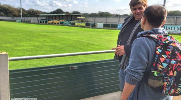 Chinese fan makes 6,000 mile trip to visit favourite Championship Manager club Runcorn