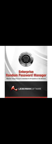 Review: Lieberman Software Enterprise Random Password Manager v4.83.6