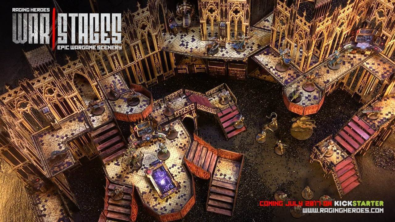 New tabletop terrain Kickstarter brings a massive cathedral to your next warzone