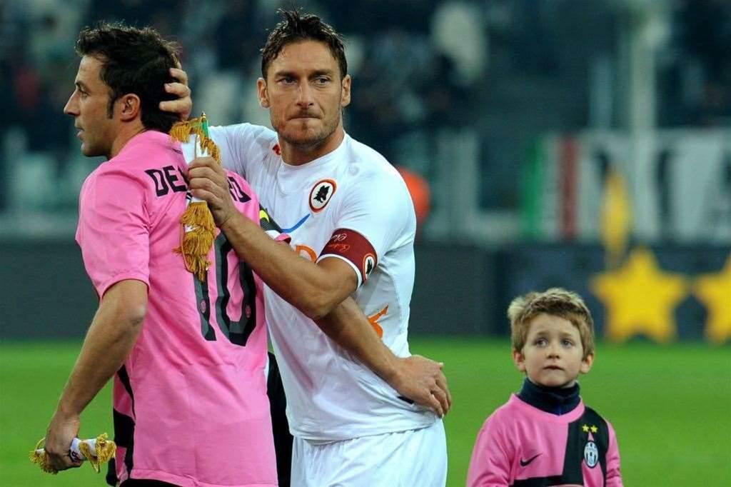 Totti Wishes Del Piero Good Luck