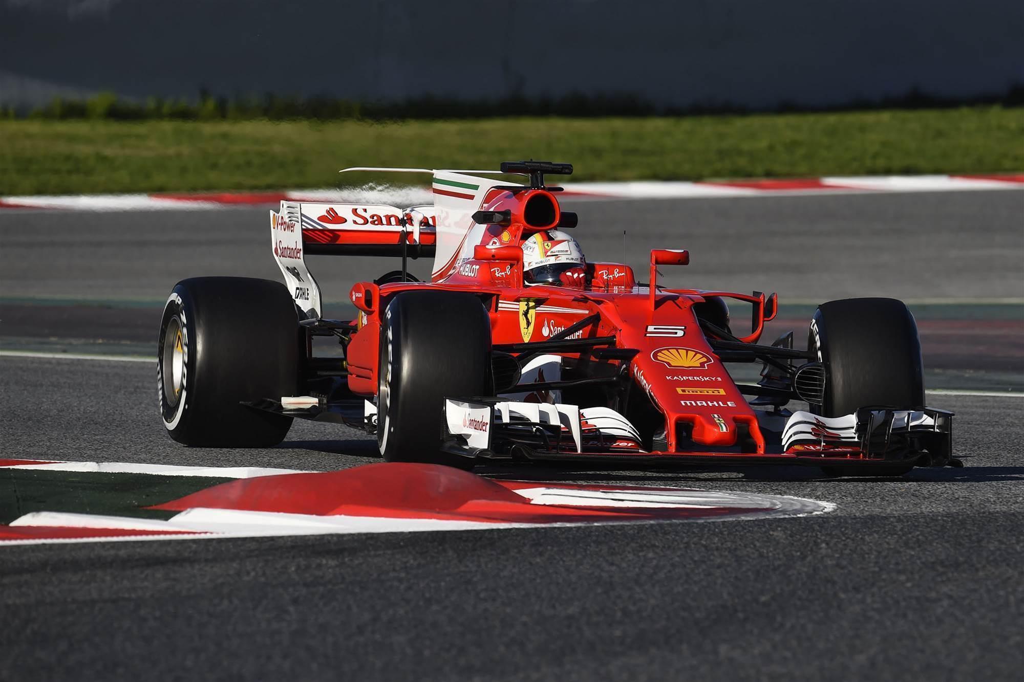 Ferrari sets the pace in F1 testing