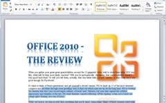 Review: Microsoft Word 2010