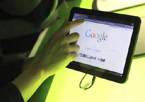 Google plays catch-up with Apple in tablets