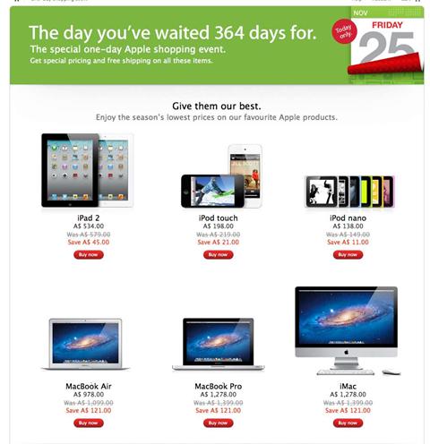 Australia: an Apple Black Friday bellwether