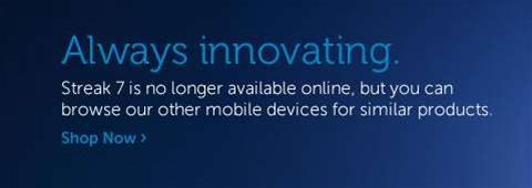 Dell kills 7-inch Streak tablet