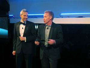 Left: David Nicol, (IBM), Phil Cameraon (IBM)