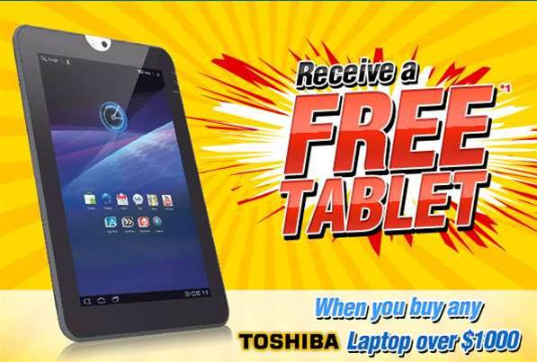 Tech deals: Buy a Toshiba laptop, get a Toshiba tablet free