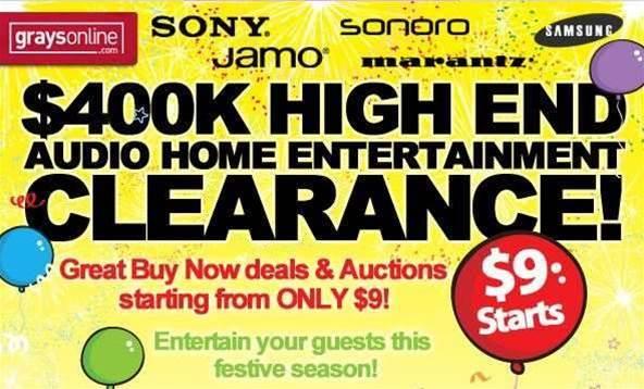 Tech deals: save hundreds of dollars on AV gear at GraysOnline
