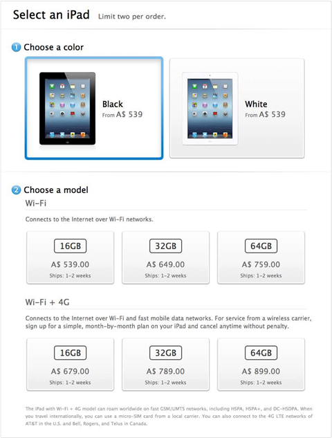 ACCC sues Apple over iPad '4G'