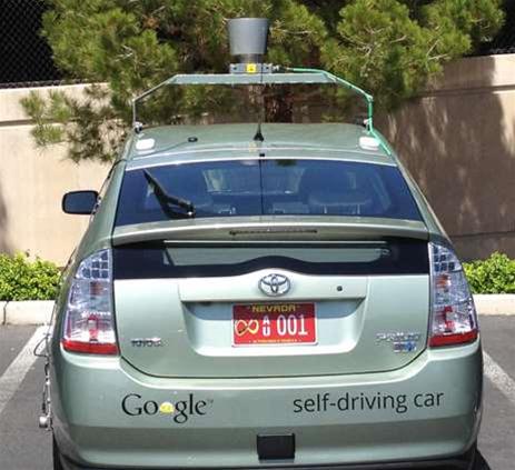Google gets first driverless car plates