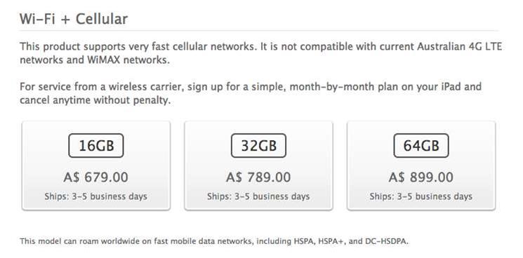 Apple drops 4G claim from iPad marketing