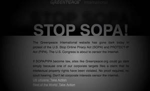 Google slows crawlers for SOPA blackout