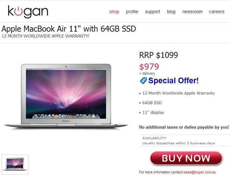 Tech deals: Save up to 40% on HP, Toshiba and Apple laptops from Kogan Technologies