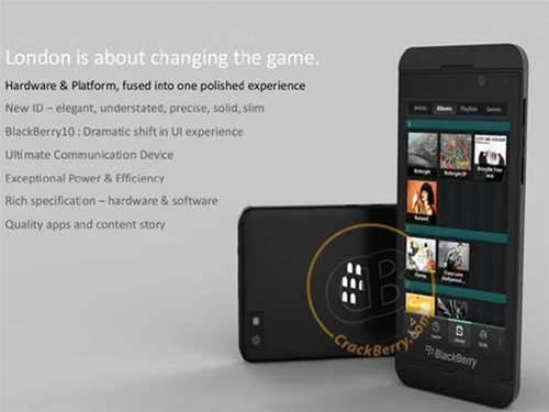 New-look BlackBerry London leaks