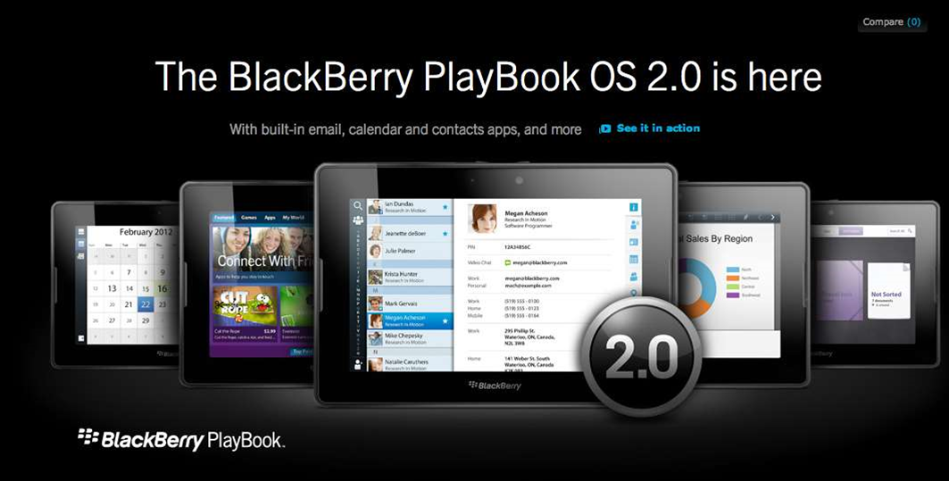 RIM brings email to the PlayBook with OS 2.0