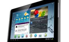 Samsung Galaxy Tab 2 10.1 shows its rectangular face