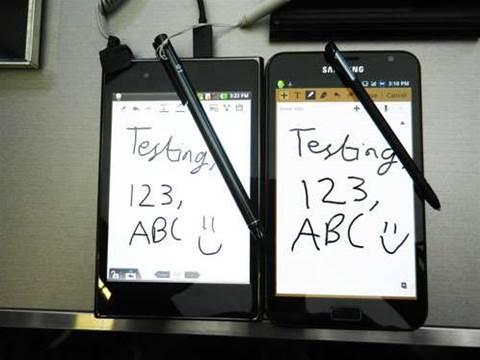 Hands on: Samsung Galaxy Note vs LG Optimus Vu