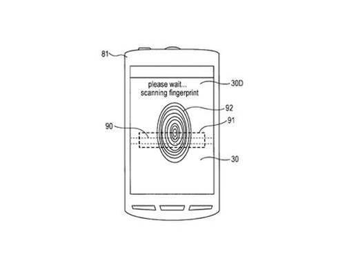 Sony patents fingerprint-scanning screen