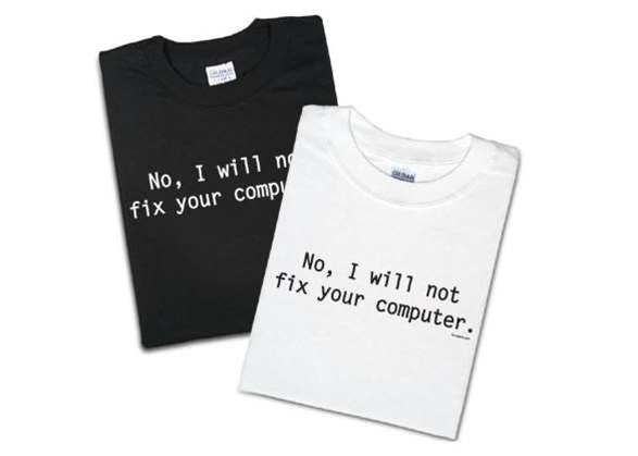 Discount on 'No, I Will Not Fix Your Computer' T-shirt