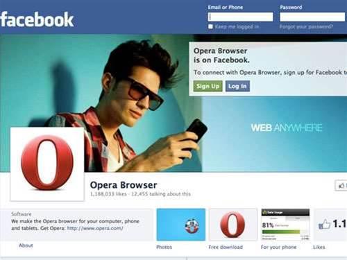Facebook to buy Opera: report