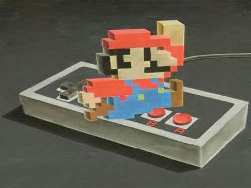 3D Mario chalk drawing video is a nostalgic/artistic triumph