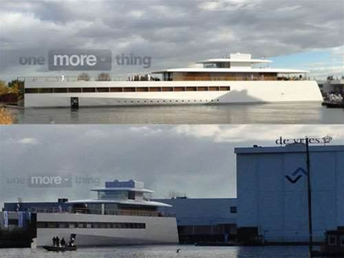 This is the yacht Steve Jobs designed with Philippe Starcke