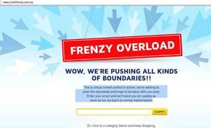 David Jones, Click Frenzy sites bomb in online sale
