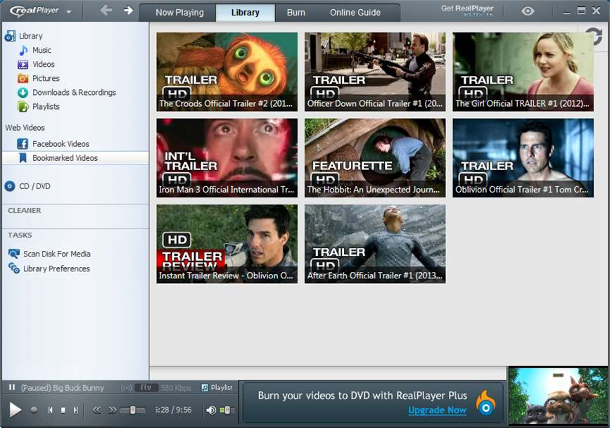 RealPlayer 16 adds video bookmarking, Toolbar mode