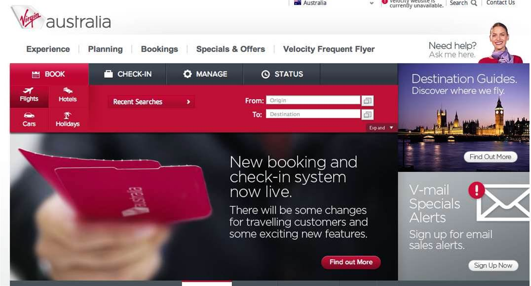 Virgin's Sabre check-in goes live