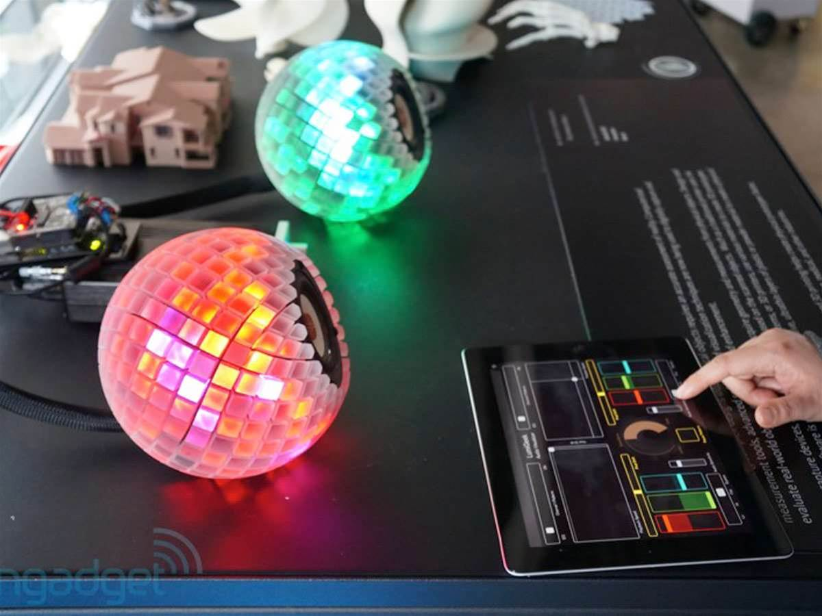 These 3D printed speakers double up as disco lights