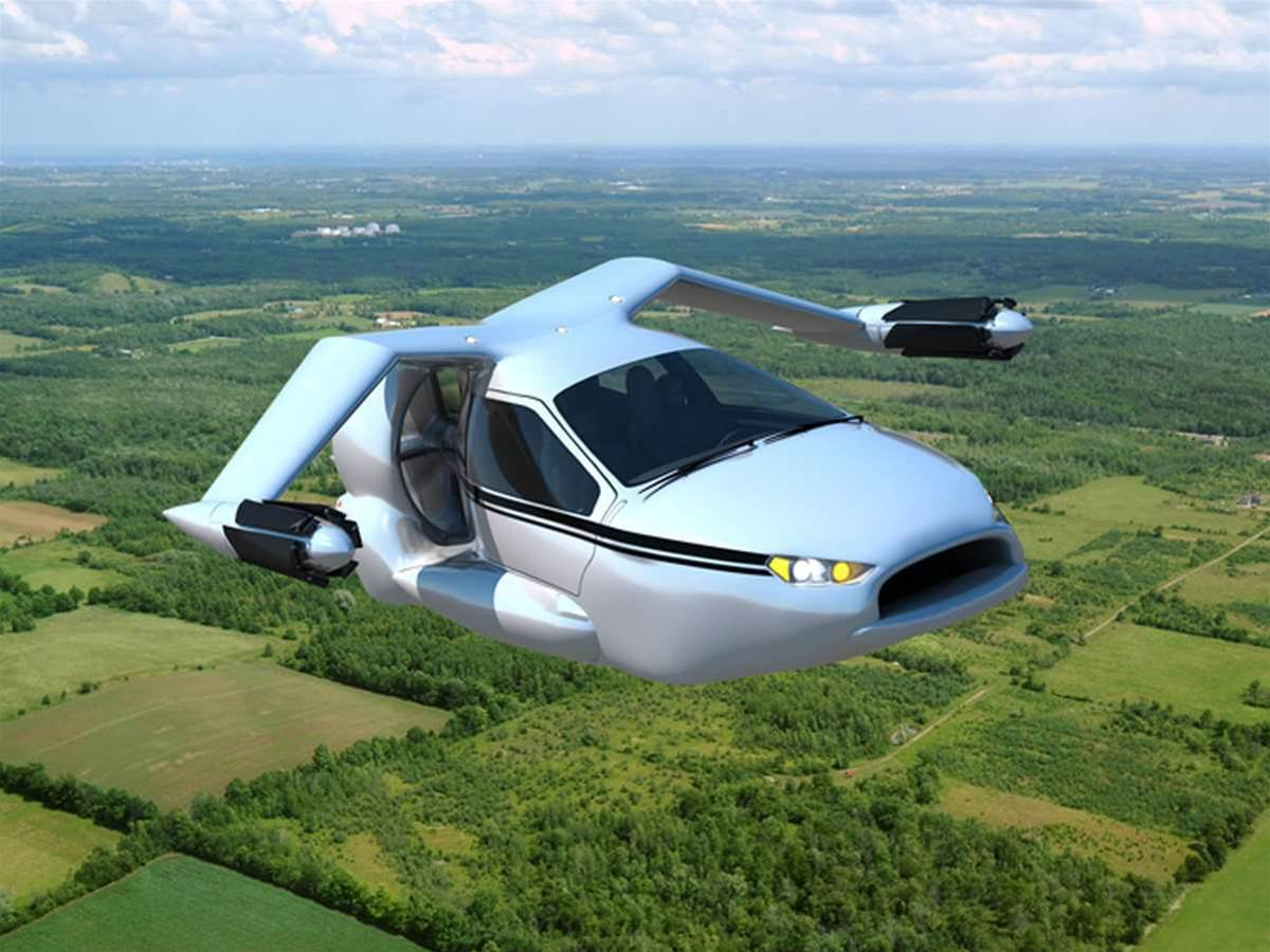 Terrafugia TF-X flying car concept takes to the skies