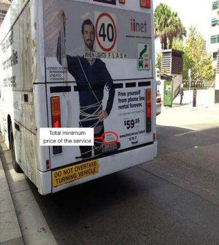 iiNet fined $102,000 over Naked DSL bus ad