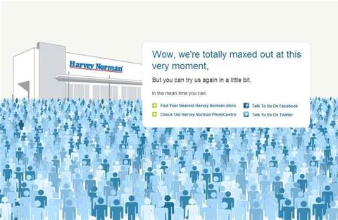 """Wow, we're totally maxed out"": Harvey Norman offline"